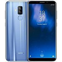 HOMTOM S8 5,7 Zoll Smartphone Android 7.0 4G-LTE Dual SIM Ohne vertrag Handy MTK6750T Octa Core 1.5GHz 4GB RAM 64GB ROM 16MP+5MP Hintere Kamera, 3400mAh Akku, Fingerabdruck (Blau)