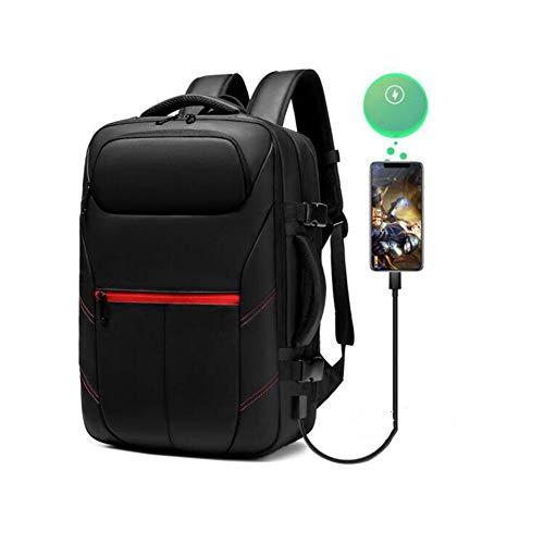 YQ QY Laptop-Rucksack Rucksack Herrenrucksack Neue Große Kapazität Erweiterbar Casual Business Travel Laptop-Tasche Trend Rucksack (Color : Black, Size : 31x26x46cm) - Erweiterbar Aufrecht Tasche