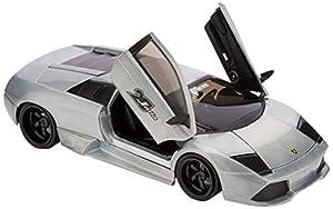 Dickie Toys 253745015 Lamborghini Catenario Wave 4 - Vehículo Die-Cast, con Rueda Libre, Jada Toys 20 años Aniversario, Plateado y Metalizado Cepillado