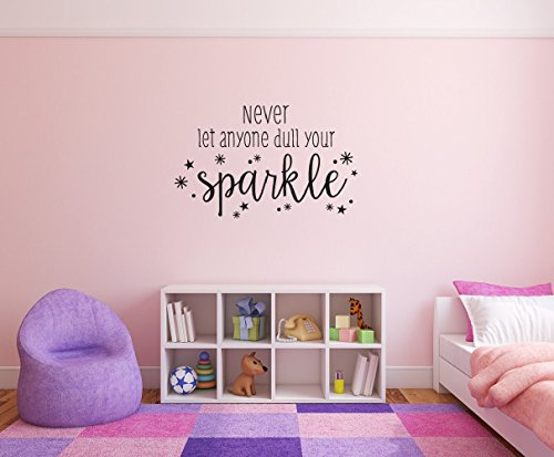 wandaufkleber schlafzimmer Never let anyone dull your sparkle sparkles Removable Wall Decal Sticker DIY Art Décor for Home Nursery Kids' Girl's Room Decals