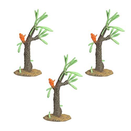 Toyvian 3 Stücke Modellbäume Kunststoff Bäume Micro Landschaft Pflanze Ornament für Gartenhaus...