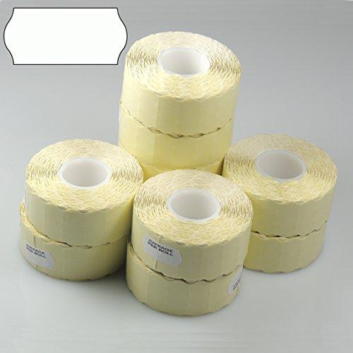 EPOSGEAR® 45000(36Rollen) weiß Spaltbar Permanent selbstklebend blanko CT426mm x 12mm Preis Gun Beschriftungsgerät Etiketten, Mwst Rechnung & versandkostenfrei