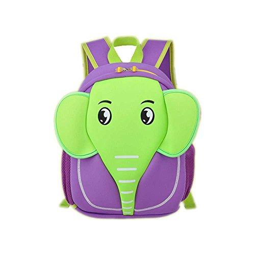 SAMGU Bolsos Lindos de la Historieta Elefante Niños y niñas Bandolera Mochila Backpack Color púrpura
