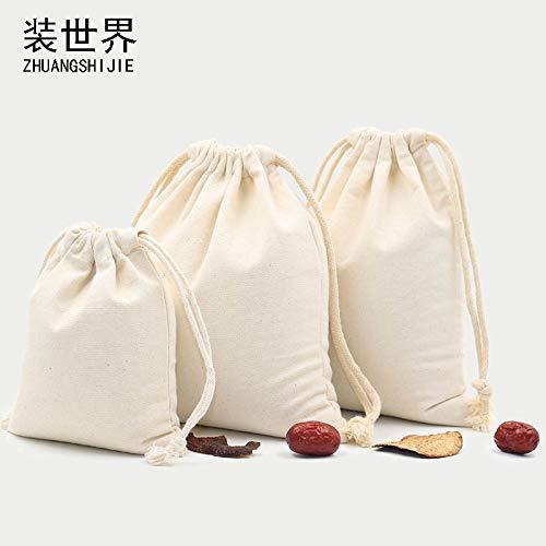 MJJKIO 2 Teile/los 13 * 16 cm mehrzweck großhandel 260g Baumwolle Leinwand Kordelzug Benutzerdefinierte Logo Druck Lebensmittelverpackung Tasche -