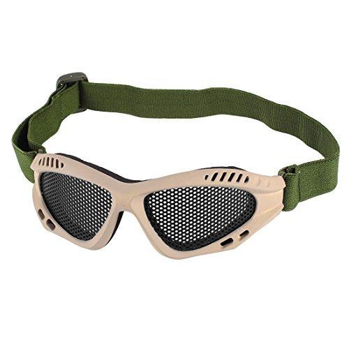 Khaki-objektiv (Lady Man verstellbares Band schwarzer Schaumstoff-Auflage-Mesh-Objektiv Khaki Goggles)