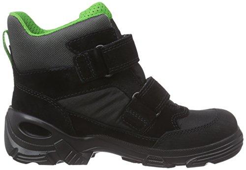 Ecco Ecco Snowboarder, Bottes de neige de hauteur moyenne, doublure chaude garçon Noir - Schwarz (Black/Black)