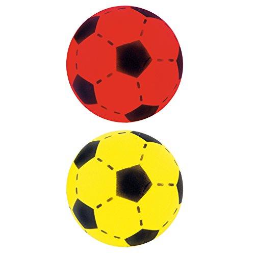 Softball 2er Set Farben Gelb & Rot ca. 20 cm Durchmesser