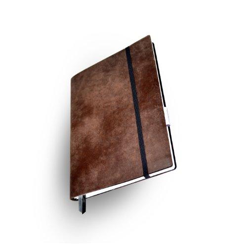Whitebook Soft S205-ML, modulares Notizbuch, Rindleder geschnitten, braun antik, 240 S. Papier FSC (iPad Mini & Samsung Tab 8