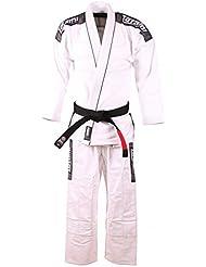 Tatami hombre blanco Nova más Ju Jitsu Gi - con / SIN Blanco Cinturón - A4