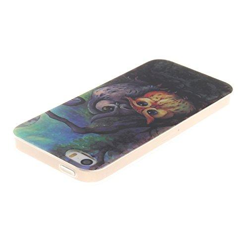 Coque iPhone SE, MOONCASE iPhone 5s Slim Coque Housse Etui Silicone Parfait Soft TPU Back Case Cover pour iPhone SE / 5S / 5 - TX06 Fleurs Series - TX19
