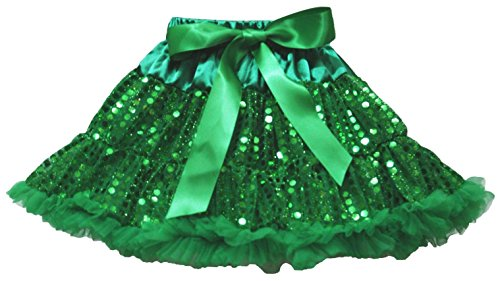 Kelly Green Sequined Pettiskirt Skirt Party Dress Girl Clothing 1-8y (3-4 Jahr) (Kelly-grün-chiffon-kleid)