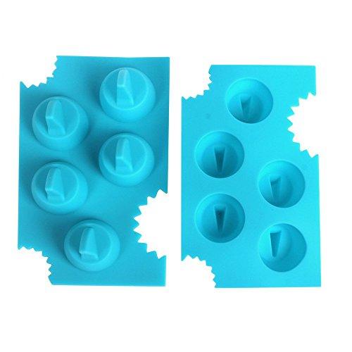 YOKIRIN 13.2X8X3.7 CM 1X Sharks Silikon Eisbehälter Schokoladenform Eisform