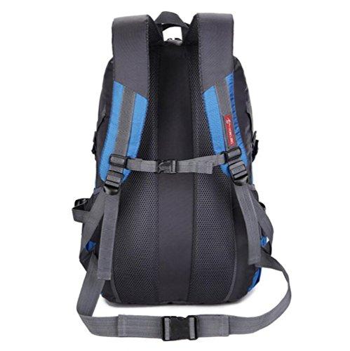 45L Zaino in nylon Coppia all'aperto alpinismo sacchetto di grande capienza Borsa a tracolla Sport , green Black