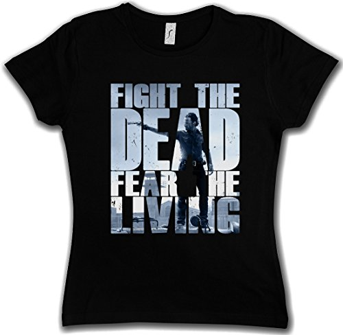 FIGHT THE DEAD FEAR THE LIVING III WOMAN GIRLIE DONNA T-SHIRT - Daryl Dixon The Walking Biters Dead Walkers Zombies Zombi Taglie XS - 2XL