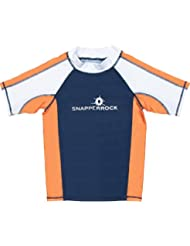 Snapper Rock Girl's UV - Camiseta de natación para niños, Azul / Verde / Blanco (White/Blue/Green), talla 1-2 años, 86-92cm