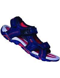 JQR Mens Navy Blue Red Outdoor Sandals UK