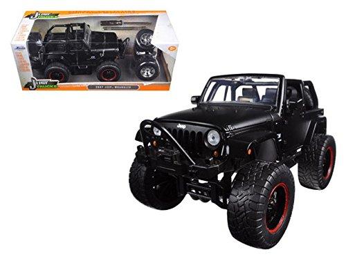 2007 Jeep Wrangler mit Satz Reifen & Felgen 1:24 Jada Toys 97689 (Jeep Wrangler Schwarze Felgen)