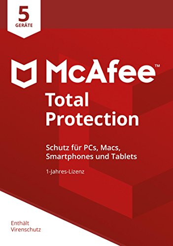 McAfee Total Protection 2018 | 5 Geräte | 1 Jahr