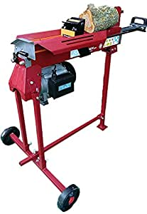 Electric Log Splitter | 7 Ton Wood Cutter With Work Stand | Hydraulic Logsplitter Titan Pro