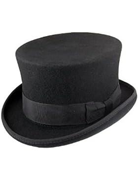 Alta calidad hecho a mano 100% lana con forro de raso sombrero pequeño hasta XXL