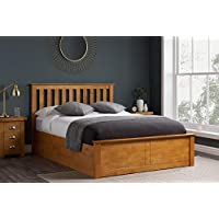 Birlea Phoenix 4ft6 Double Ottoman Bed, Oak, pine,