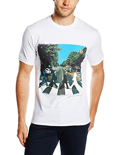 The Beatles Abbey Road Men's Short Sleeve Shirt Gr. Large, Weiß - Weiß