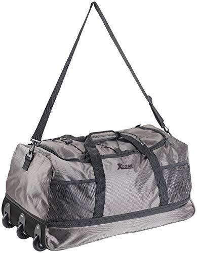 Xcase Reisetaschen mit Rollen: Reisetasche mit Trolley-Funktion, faltbar, erweiterbar, 110-140 l (Faltbare Reisetasche mit Rollen) - Extra Breiter Falt -