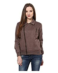 Yepme Womens Brown Poly Cotton Sweatshirts - YPMSWEAT5114_S