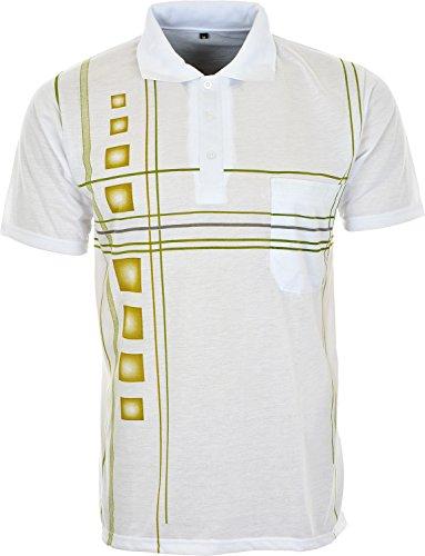 Lucky Brand Herren Poloshirt Weiß - Weiß