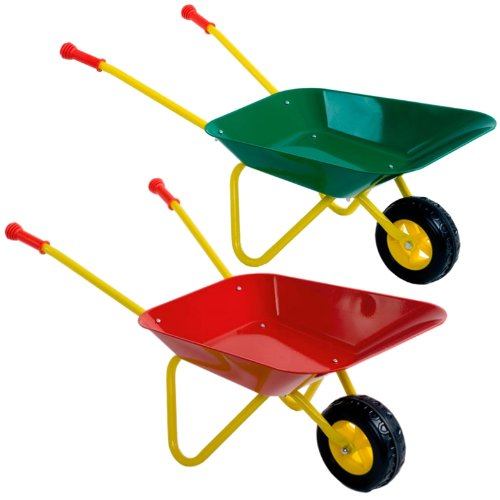 Kinderschubkarre / Schubkarre / Metallschubkarre in 2 verschiedene Farben (Rot)