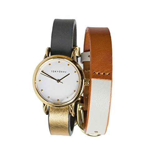 tokyobay-t612gd-gy-wh-mens-stainless-steel-gey-leather-band-white-dial-smart-watch