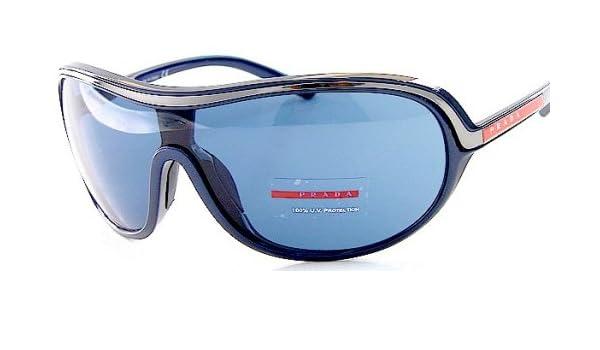 ab89090ffdc Prada Navy Blue Sunglasses Sps 10G Sps10G 7Bf-1V1 Navy Blue Shades   Frames  Size  01-26-125  Amazon.co.uk  Clothing