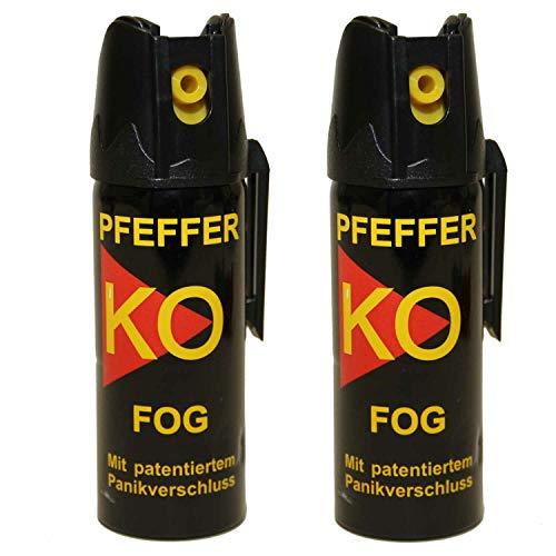 BALLISTOL Verteidigungsspray Pfeffer KO Fog 2 Dosen mit je 50 ml Pfefferspray bis zu 1,5 m Reichweite