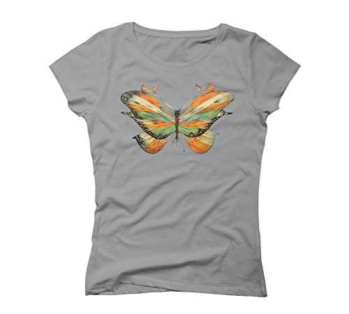colorful butterfly Women's Graphic T-Shirt - Design By Humans Opal