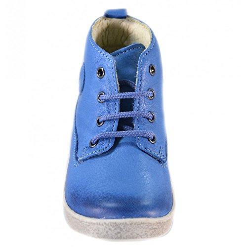 Falcotto - Naturino Falcotto Chaussures de sport Pour Petit Garçon Velcro Cuir Bleu 1196 Bleu