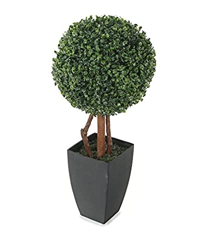 Closer2Nature Artificial 2ft Boxwood Tree Ball Topiary