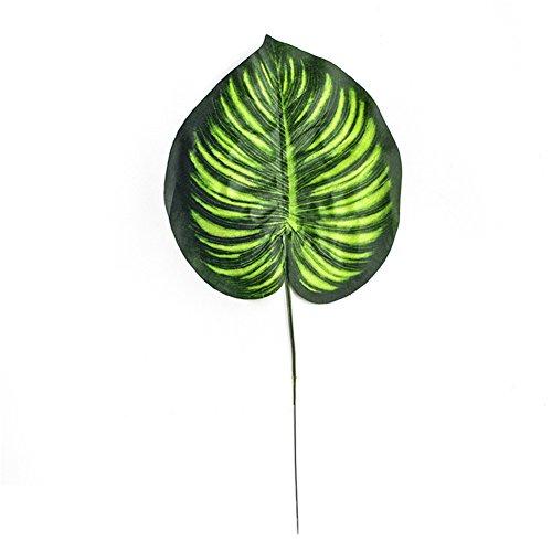 (Hacoly Künstliches Blätter Palme Aufhängen Simulation grüne Blatt künstlich gefälschte Pflanze Party Hochzeit Tisch Dekorationen Tischdekoration Gras Palmblatt 1 Zweige pro Stück - 30cm Grün)