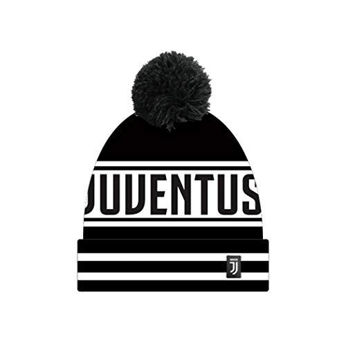 Enzo castellano fc juventus cappello pon pon jacquard ufficiale - colore - nero, misure - uni