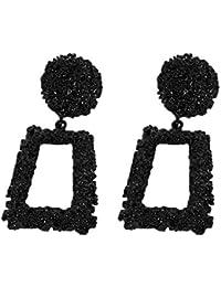 4da4f6978e1e ClifcragrocL Pendientes Moda Mujer Fiesta Regalo Joyería Geometría Forma  Cuadrada Perno