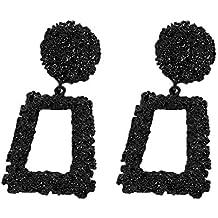 a58bbbe8ec4c ClifcragrocL Pendientes Moda Mujer Fiesta Regalo Joyería Geometría Forma  Cuadrada Perno