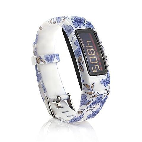 Fit-power Bracelets en silicone avec fermoirs pour Vivofit 2/Garmin Vivofit 2 (Capteur non inclus), Type 2