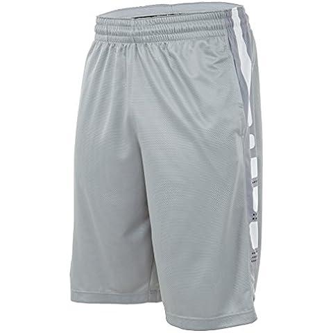 Nike Elite para hombre pantalones cortos de rayas de pelota de baloncesto gris/negro/blanco