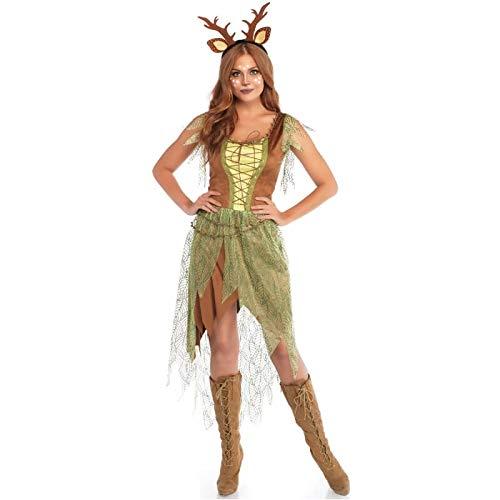 Leg Avenue 8674801101 2 teilig Set Wald Hirsch, Damen Karneval Kostüm Fasching, Mehrfarbig, Größe S - Leg Avenue 2 Teilig Kostüm