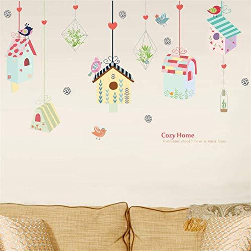 3D-Wand-Aufkleberkreative Frische Und Schöne Blumen-Korb-Vogelkäfig-Wand-Aufkleber-Dekorative Aufkleber, Die Wohnzimmer-Schlafzimmer Malen