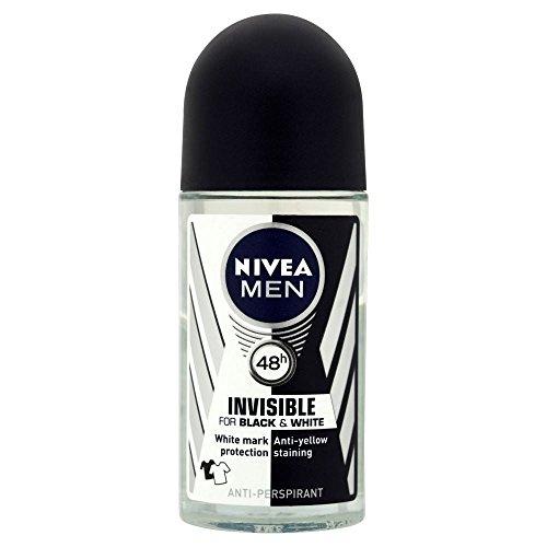 Nivea Men Unsichtbar Für Schwarz-Weiß- 48H Anti-Transpirant Deodorant Roll-On Power (50 Ml) (Weiße Grapefruit)