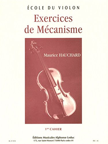 EXERCICES DE MECANISME VOLUME 1 VIOLON par HAUCHARD