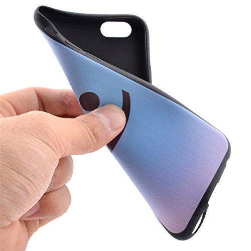 SainCat Coque Housse pour Apple iPhone 5s,Transparent Coque Silicone Etui Housse,iPhone 5 Silicone Case Soft Gel Cover Anti-Scratch Transparent Case TPU Cover,Fonction Support Protection Complète Magn sourire