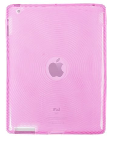TPU Case for iPad 2 / iPad 3 (3rd Generation) / iPad with Retina Display (iPad 4, 4th Generation) Circle Design - Pink - Fosmon Crystal