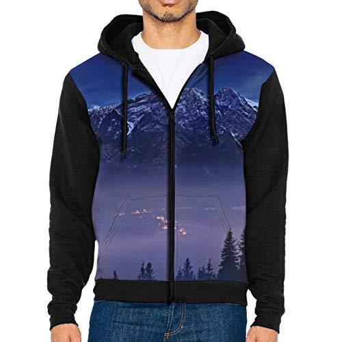The Mountain's Dream Men's Full-Zip Hoodie Jacket Sweatshirt XXL Youth Full Zip Lightweight Jacket