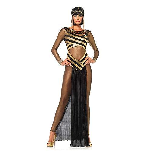 FZTX-LPX Halloween Cleopatra königin Dress up Cosplay kostüm Ball Erwachsene kostüm bühne Dress Performance kostüm,Schwarz (Cleopatra Dress Up Kostüm)